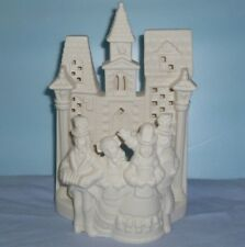 PartyLite Village Carolers Tealight Holder Bisque Porcelain ~ Pre-Owned In Box