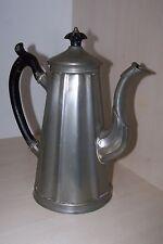 antik Kaffeekanne alt englisch Zinn 19 Jhd. Griff Holz vintage british tin can