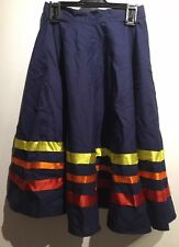 """Ballet Character Skirt 21"""" Waist 21"""" Length. Red Yellow And Orange Ribbons."""