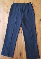 PERRI CUTTEN Black Pinstripe Pants Size 16
