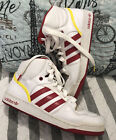 Adidas Red Yellow Sneakers Ankle Floral Inside Size 11