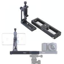 Macro Focusing Rail Slider Phone Holder w/QR Plate for Close-up Tilt Photography