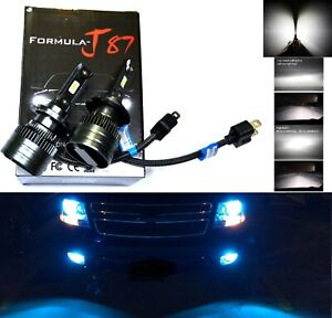 LED Kit G 100W H7 10000K Blue Two Bulbs Head Light Low Beam Replacement Lamp Fit