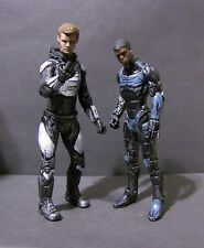 Custom NECA figures of  Raleigh and Jake Pacific Rim 1 and 2 JAGER DATTLE DAMAGE