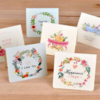 6pcs/Set Flower Greeting Cards With Envelope Paper Cards Birthday Festival Card