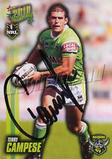 ✺Signed✺ 2010 CANBERRA RAIDERS NRL Card TERRY CAMPESE