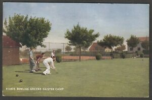 Postcard Caister on Sea nr Great Yarmouth Norfolk holiday camp Bowling Greens