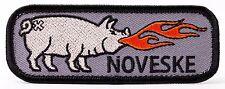 NOVESKE Fire Breathing Pig Patch - Hook & Loop Backing