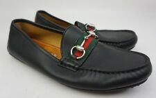 Gucci Kanye Bit Striped Men's Black Leather Loafers Shoes Drivers Size 7 G/ 8 US