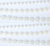 Ivory Pearl Trim Wedding Cake Decorate Sewing Card Making Embellishments