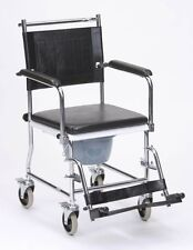 Drive Wheeled Commode Chair 4 Lockable Castors Toileting Aid Padded Seat Armrest