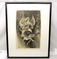 Vtg William Gropper Signed Lithograph - Davy Crockett -' Framed Ready to Hang