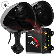 600W Amplifier Waterproof Bluetooth Motorcycle Stereo Speaker Audio System Radio