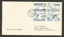 CANADA 1957 Sports 4v First Day Cover FDC