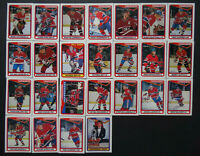 1990-91 O-Pee-Chee Montreal Canadiens Team Set of 25 Hockey Cards