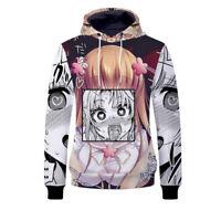 Anime Ahegao - Hentai Manga Men's 3D Hoodie Sweatshirt Pullover Coat Jumper