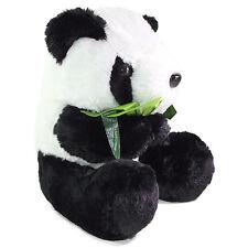 "11"" Big Sitting Panda Bear Eating Bamboo Plush Stuffed Animal Toy Birthday Gift"