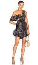 Zimmermann Rife Flounce Dress | Mini Cut Out | Polka Dot | Navy/Mustard $850 RRP