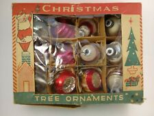 Vintage 12 Shiny Brite & Other Christmas Ornaments with Box Lot 9