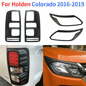 Fit For Holden Colorado RG Tail Rear Light Lamp Cover Matte Black 2016-2019