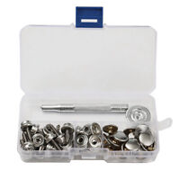 STAINLESS STEEL BOAT COVER CANVAS SNAP FASTENER REPAIR KIT 62 PIECE SL MARINE US