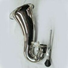 bass clarinet bell and stick cupronickel body plated for repairing