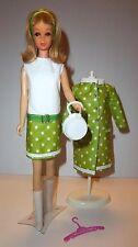 Vintage 1960s BARBIE Francie Twiggy MOD Coat Dress Purse Hanger Boots OOAK