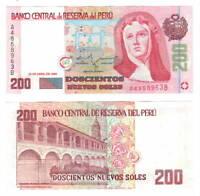 PERU 200 Nuevos Soles Banknote (1995) P-162 aUNC+ Paper Money