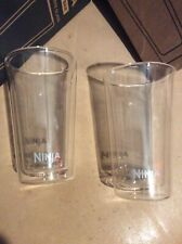 2 Ninja Coffee Bar Cafe Forte Brew Double Walled Glass Tumbler Tea Cup Hot Cold
