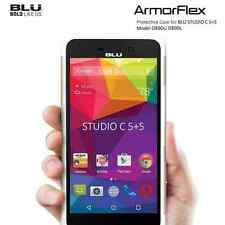 BLU Studio C 5+5 D890 ArmorFlex Protective Case phone Cover Gold on White