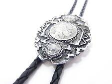 Bolotie Indian Head Coin Westernschmuck Cowboy Bolo Tie Bolokrawatte