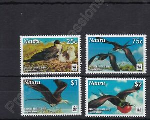 NAURU MNH STAMP SET 2008 WWF GREATER FRIGATE BIRDS SG 681-684