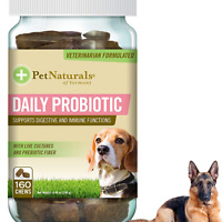 DOG DIGESTIVE CHEWS Daily Probiotic Health Supplement 160 Bite Sized Treats