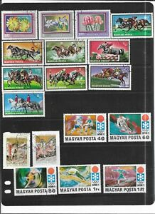 HUNGARY 1971. SELECTION OF 18. VERY FINE USED. AS PER SCAN
