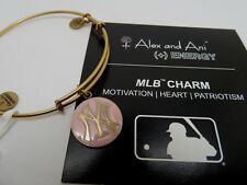 Alex and Ani Gold & Pink N.Y. Yankees Charm Bracelet NEW with Tags Retired