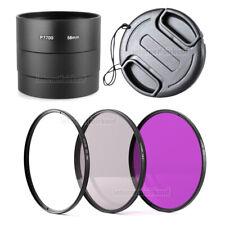 Zubehör-Set passend für Nikon P7700 P7800 - Adapter + 3 Filter + Objektivdeckel