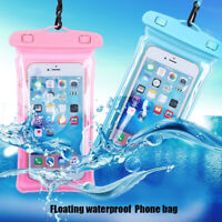 "Universal 6.3"" Airbag Floating Swimming Bags Waterproof Touchscreen Phone Bag US"
