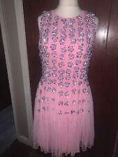ASOS Pink Sequined Prom Dress Size 12 Party Prom Races BNWT gorgeous