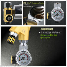 HD Air Regulator with Pressure Gauge In-Line Air Regulator Spray Gun Regulator