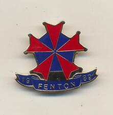 Vintage 1989 Fenton Biker Club Rally Jacket Pin Motorcycle