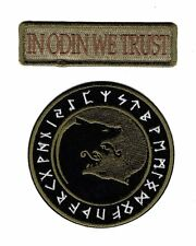 In Odin We Trust Viking Úlfhédnar No Mercy Only Violence Wolf HOOK Patch  (ODY1)