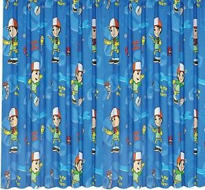 Handy Manny Curtains Childrens Bedroom Playhouse Disney Blue Kids Curtain Set