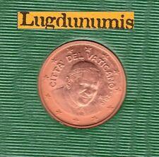 Vatican 2010 - 2 Centimes D'Euro - 94 000 exemplaires Provenant du BU RARE