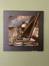 John Richen Wall Steel Bronze Sculpture Artwork Sailing Sailboat 3D