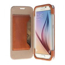 Krusell Book Cover Tasche Hülle Ledertasche für Samsung Galaxy S6 S6 Edge Etui