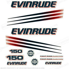 Evinrude 150hp Bombardier Outboard Decal Kit - 2002-2006 Engine Stickers