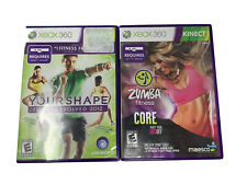 XBOX 360 Lot Of 2 Fitness Zumba Fitness Core And Your Shape Fitness Evolved 2012