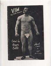 Rare Vim Bodybuilding Muscle Magazine Eugen Sandow 4-41 vol 2 #4