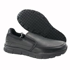 NEW Skechers Nampa Groton SR Relaxed EH Work Shoes Black 77157 Men's Size 9 D