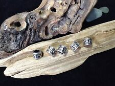 Dread Beads 5x Celtic Maze Ring Silver Tone 6mm Hole Dreadlocks Viking Beard